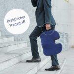 casimum® orthopädisches Sitzkissen aus Memory Schaum für Bürostuhl, Auto und Rollstuhl.